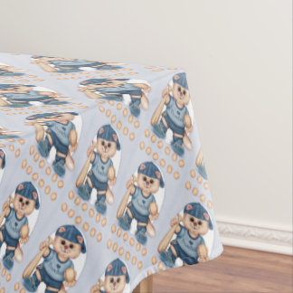 "BASEBALL CAT Tablecloth COLOR LIPS 52""x70"""