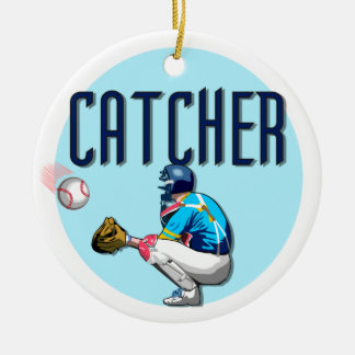 Baseball Catcher T-shirts and Gifts Ceramic Ornament