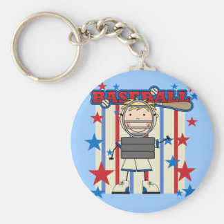 BASEBALL Catcher Tshirts and Gifts Basic Round Button Key Ring