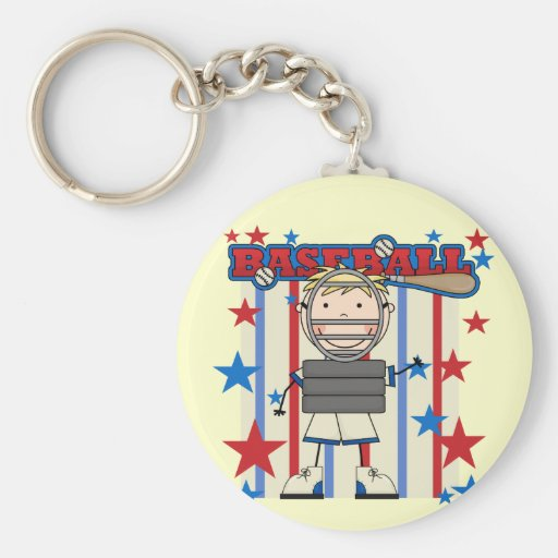BASEBALL Catcher Tshirts and Gifts Key Chains
