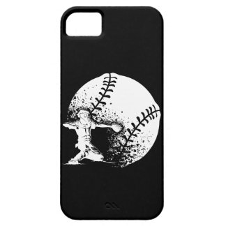 Baseball Catcher With a Grunge Ball iphone Case