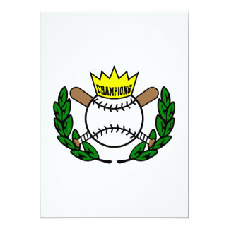 Baseball Champions 13 Cm X 18 Cm Invitation Card