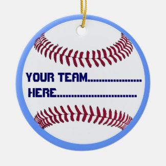 Baseball charm and Souvenir American Spirit Round Ceramic Decoration