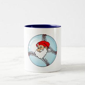 Baseball Christmas Santa Claus Mugs