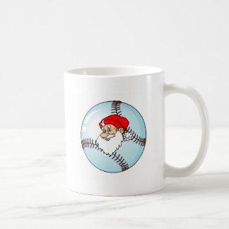 Baseball Christmas Santa Claus Coffee Mug