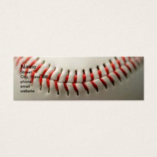 Baseball close up mini business card