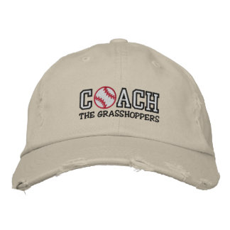 Baseball Coach (add your team name) Embroidered Cap