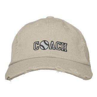 Baseball Coach Embroidered Baseball Caps
