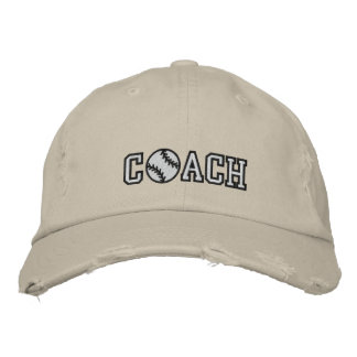 Baseball Coach Embroidered Hat
