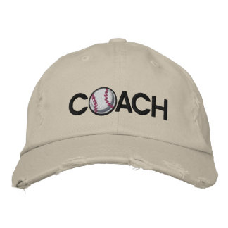 Baseball Coach Embroidered Hats