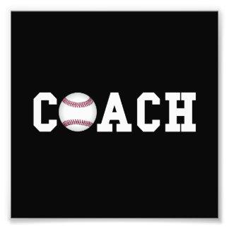 Baseball Coach Photographic Print