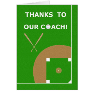 Baseball Coach Thank You Cards and Gifts