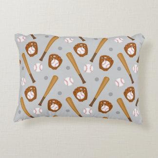 """Baseball Custom Accent Pillow 16"""" x 12"""""""