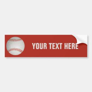 Baseball custom bumpersticker bumper sticker