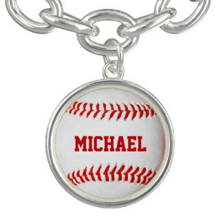 Baseball Custom Charm Bracelet