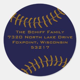 Baseball Custom Classic Round Sticker