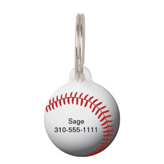 Baseball Custom Pet ID Tag