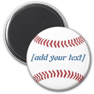 Baseball [custom text] 6 cm round magnet