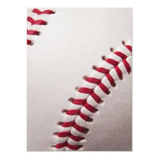 Baseball - Customized 14 Cm X 19 Cm Invitation Card