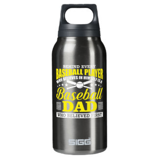Baseball Dad Believes In Baseball Player Insulated Water Bottle
