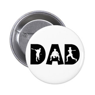 Baseball Dad Father's Day 6 Cm Round Badge