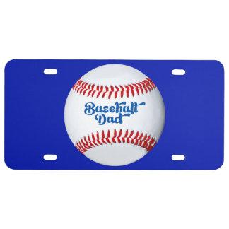 Baseball Dad Gift Idea Theme License Plate