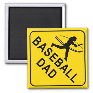 Baseball Dad Square Magnet