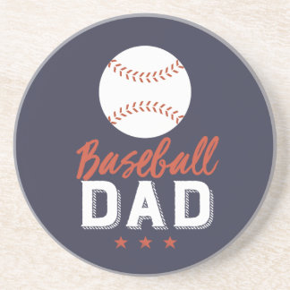 Baseball Dad Proud Father of Sports Player Kid Coaster