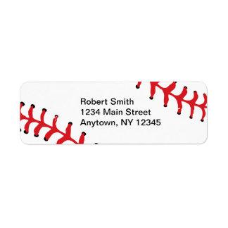 Baseball Design Return Address Labels