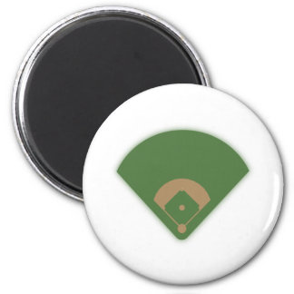 Baseball Diamond: 6 Cm Round Magnet