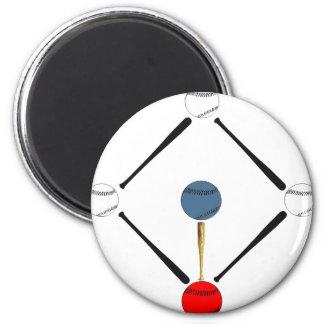Baseball Diamond 6 Cm Round Magnet