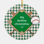 BaseBall Diamond Big Brother Christmas Ornament