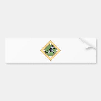 Baseball Diamond Bumper Sticker