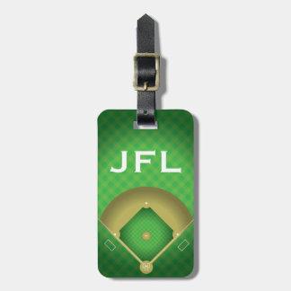 Baseball Diamond Design Luggage Tag