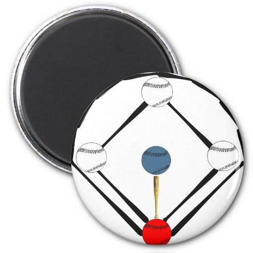 Baseball Diamond Magnets