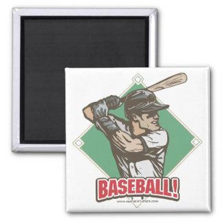 Baseball Diamond Slugger Sports Gear Square Magnet