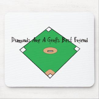 Baseball Diamonds Are A girls Best Friend Mouse Pad