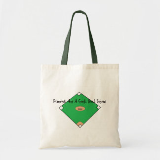 Baseball Diamonds Are A Girls Best Friends Canvas Bags