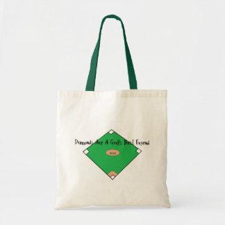 Baseball Diamonds Are A Girls Best Friends Budget Tote Bag