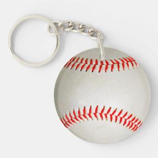 Baseball Double-Sided Round Acrylic Key Ring