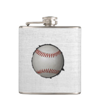Baseball Embed Sport Theme Hip Flasks