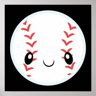 Baseball Emojis Poster