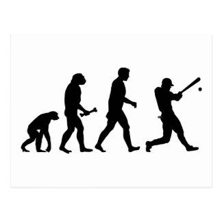 Baseball Evolution Postcard