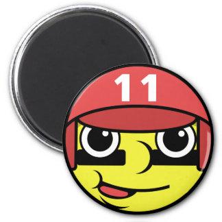 Baseball Face Magnet