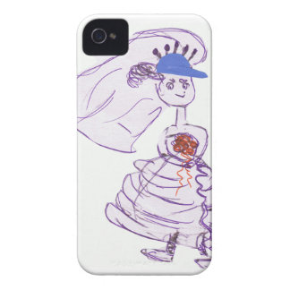 Baseball Fan Bride iPhone 4 Case-Mate Cases