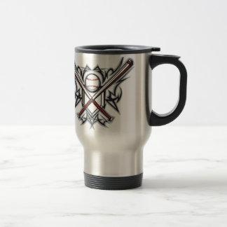 Baseball fan design travel mug