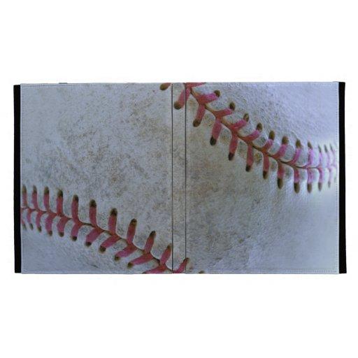 Baseball Fan-tastic_autograph-ready Battered Ball iPad Folio Covers