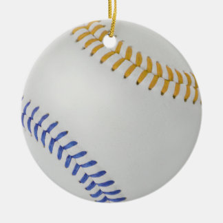 Baseball Fan-tastic_Color Laces_go_bl Ceramic Ornament