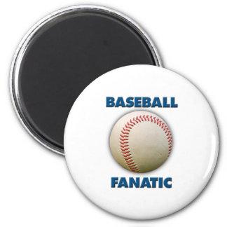 Baseball Fanatic 6 Cm Round Magnet