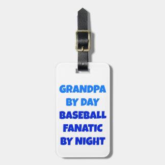 Baseball Fanatic Grandpa Luggage Tag